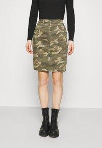 Cream - CRPENORA SKIRT - Pencil skirt - green camou - 0
