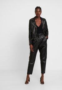 Ibana - SKYLAR - Leather jacket - black - 1
