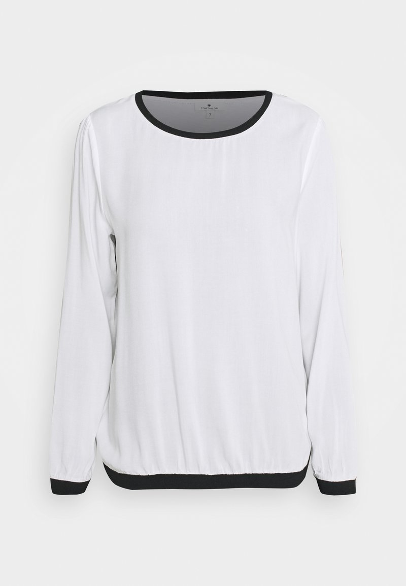 TOM TAILOR - Long sleeved top - whisper white