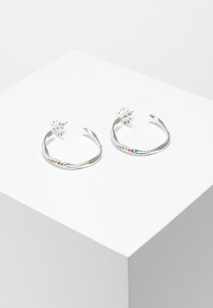 BIMBA Y LOLA CRYSTAL HOOP EARRINGS - Earrings - silver