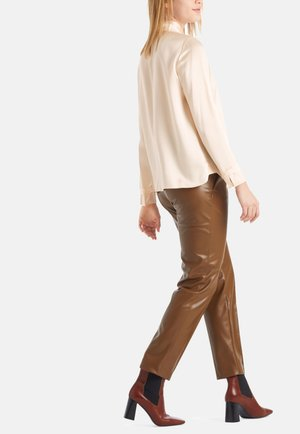 Trousers - cognac