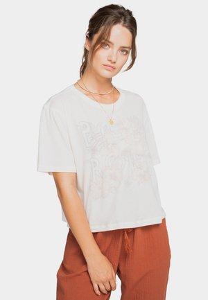 Print T-shirt - salt crystal