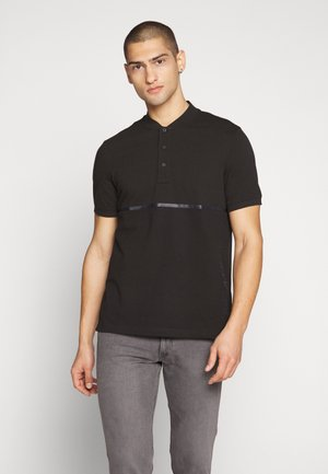 TEXTURE BLOCK - Polo shirt - black