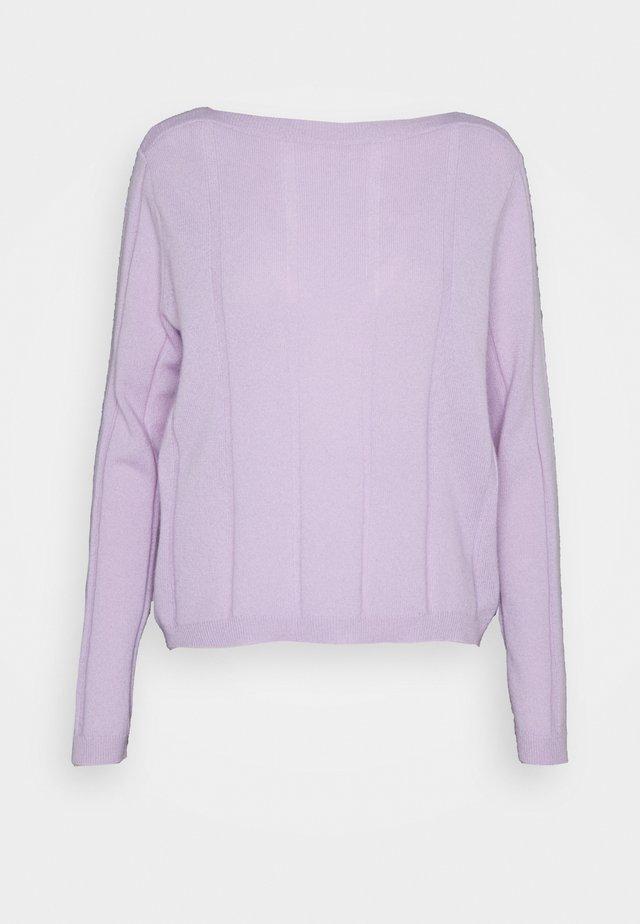 BOATNECK - Stickad tröja - lavender frost