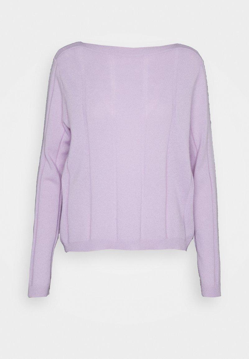 FTC Cashmere - BOATNECK - Stickad tröja - lavender frost