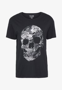 Jack & Jones - JORLEOSKULL TEE - T-shirt print - black - 3