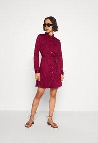 Even&Odd - Košilové šaty - dark red - 1