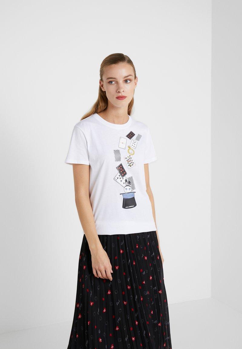 KARL LAGERFELD - T-shirts med print - white