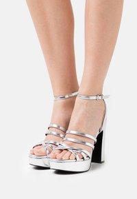Even&Odd Wide Fit - Platform sandals - silver - 0