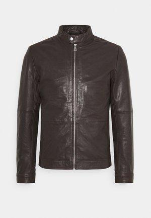 MAADRON - Leren jas - dark brown