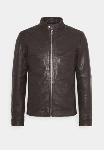 MAADRON - Leather jacket - dark brown