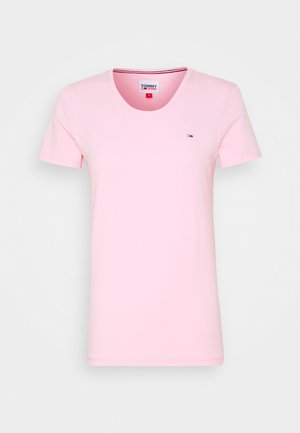 STRETCH CREW TEE - T-shirts med print - romantic pink