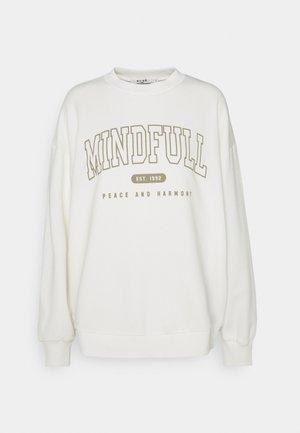 MINDFULL PRINTED - Mikina - off white