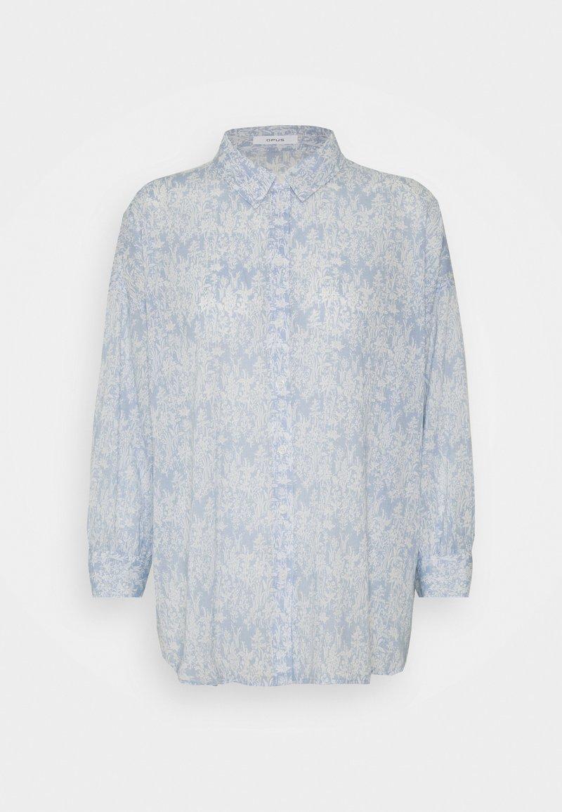 Opus - FILMA GARDEN - Button-down blouse - silent blue