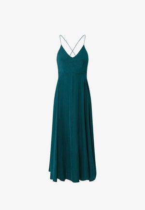 SATIN - Robe d'été - evergreen