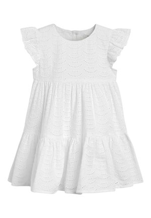 WHITE TIERED BRODERIE DRESS (3MTHS-7YRS) - Day dress - white