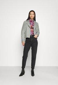 YAS - YASMOUSSE JACKET - Leather jacket - shadow - 1