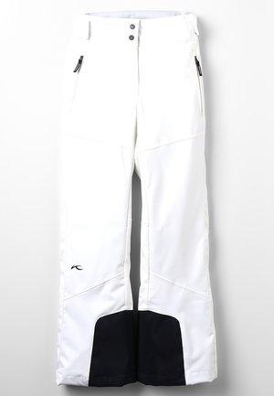 GIRLS CARPA PANTS - Spodnie narciarskie - white