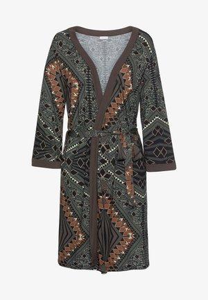 Dressing gown - braun-gemustert