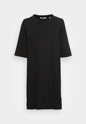 DRESS BOAT NECK RAGLAN POCKETS AT SIDESEAM - Robe en jersey - black