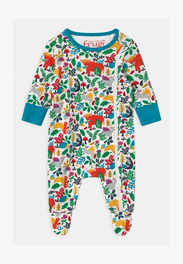 ANIMAL ZIPPED BABYGROW UNISEX - Nattdrakt - multi-coloured