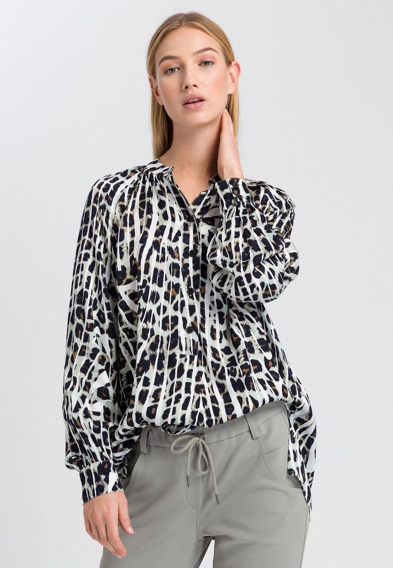 Marc Aurel - Button-down blouse - salvia varied