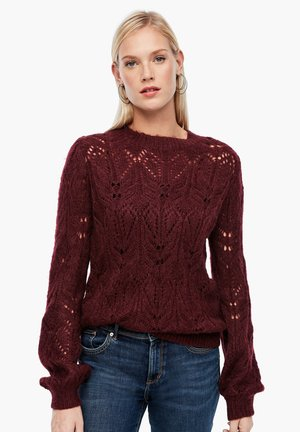 TRUI - Strickpullover - dark red