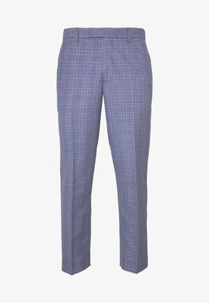 JASPE OVER CHECK TROUSER SLIM - Spodnie garniturowe - mid blue