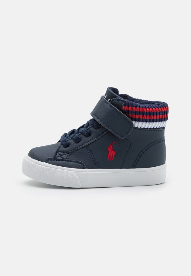 THERON  - Sneakers high - navy/red