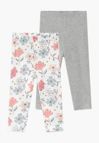 Carter's - GIRL BABY 2 PACK - Leggings - Trousers - multi-coloured/grey - 0