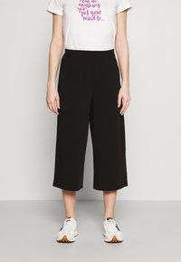 Object - OBJCECILIE NEW CULOTTE PANTS - Pantaloni - black - 0