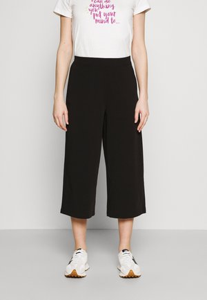 OBJCECILIE NEW CULOTTE PANTS - Kalhoty - black