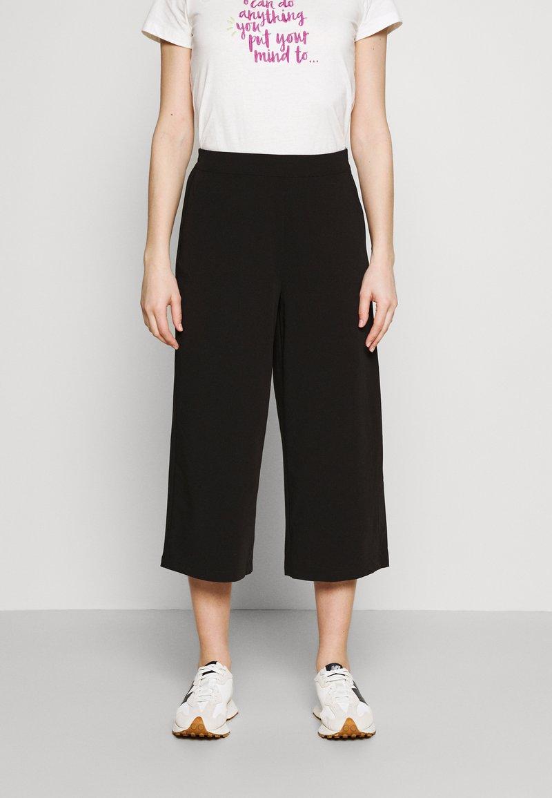 Object - OBJCECILIE NEW CULOTTE PANTS - Pantaloni - black