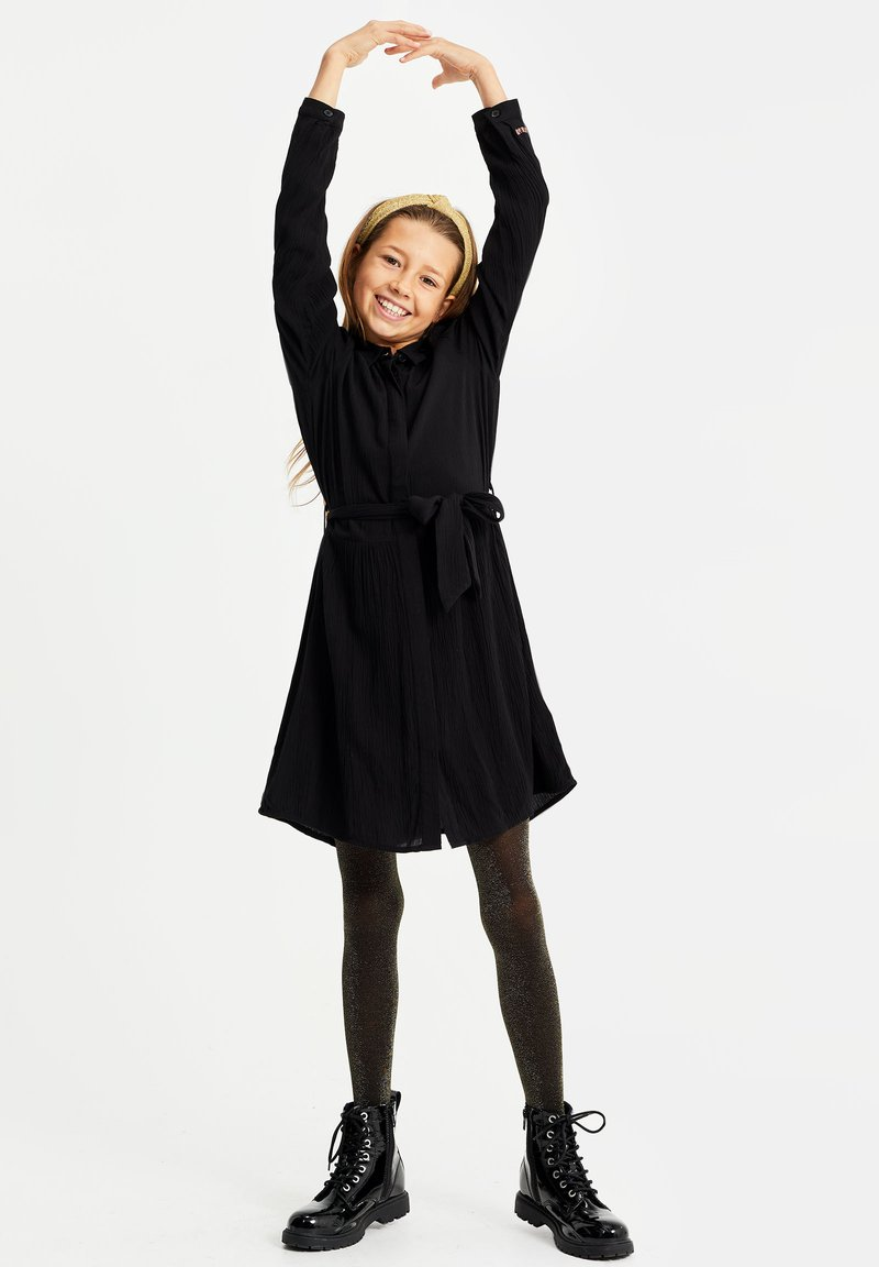 WE Fashion - Skjortekjole - black