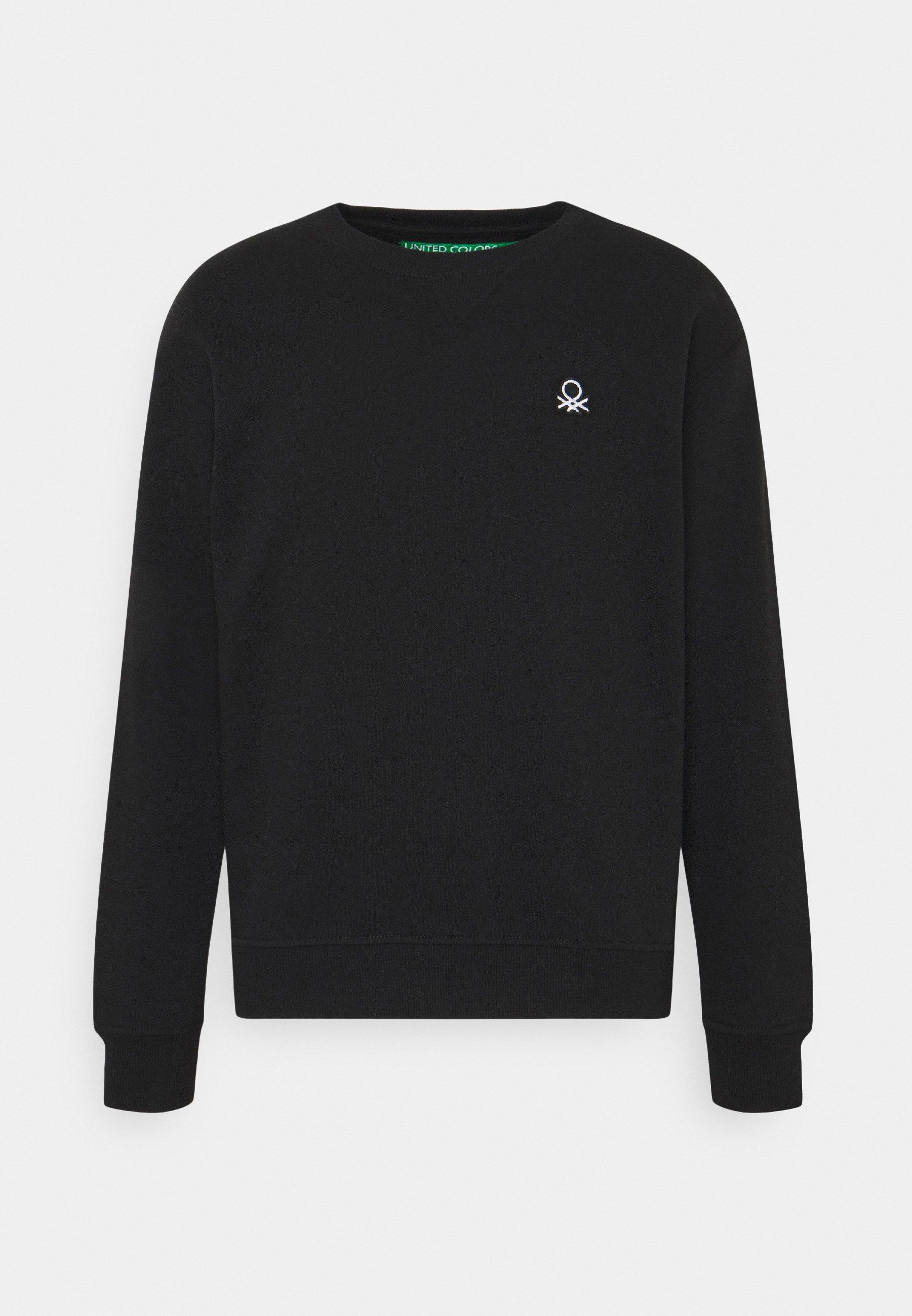 Benetton CREW NECK - Collegepaita - black eNKHPZk5