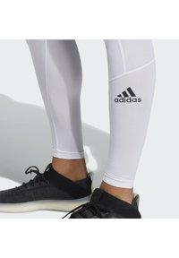adidas Performance - TURF LONG TIGHT PRIMEGREEN TECHFIT WORKOUT COMPRESSION LEGGINGS - Leggings - white - 3