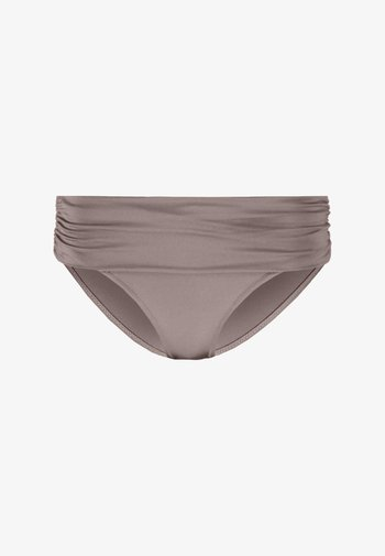 AZURE FOLDOVER RUCHED BRIEF