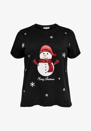 WEIHNACHTS - Print T-shirt - black