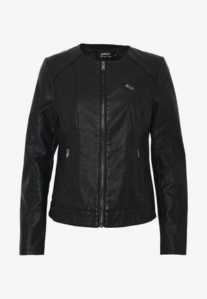 ONLNEWCATHY JACKET - Faux leather jacket - black