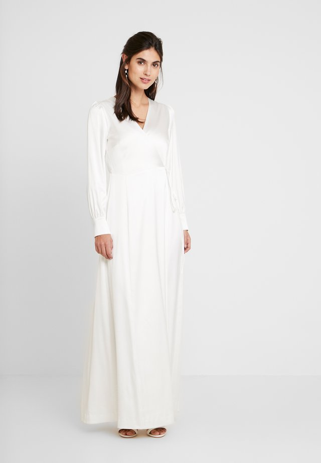 BRIDAL WRAP DRESS LONG - Occasion wear - snow white