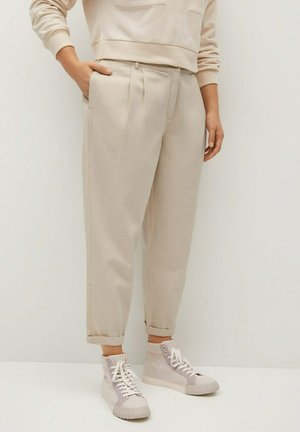 NEWPEPI - Trousers - licht pastelgrijs