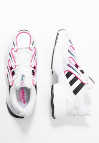 adidas Originals - EQT GAZELLE - Trainers - crystal white/core black/shock pink - 5