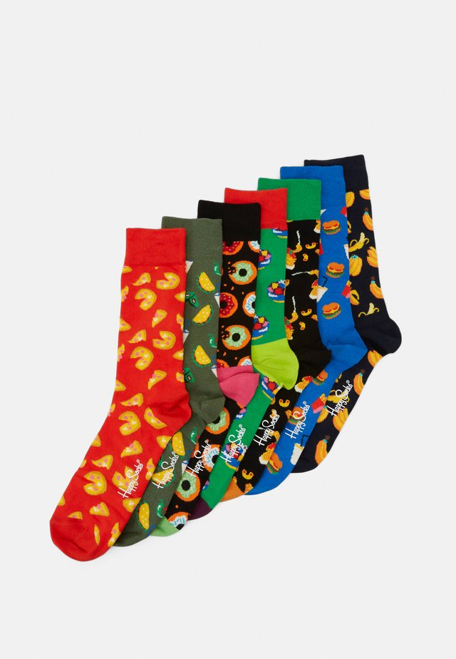 7 DAYS OF FOOD SOCKS GIFT SET 7 PACK - Strømper - multi-coloured