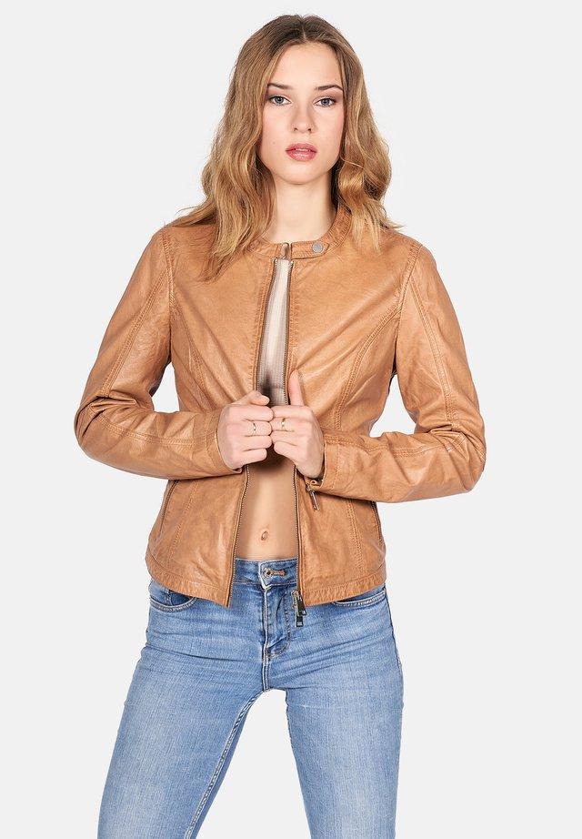 NEW TULA - Leather jacket - driftwood