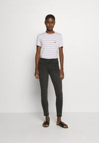 Marc O'Polo DENIM - SHORT SLEEVE STRIPE - Print T-shirt - multi/syringa lilac - 1