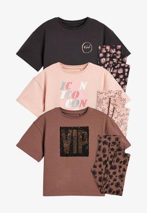 3 PACK - Pyjama set - brown