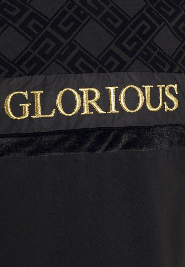 Glorious Gangsta GALVEZ TEE - T-shirt z nadrukiem - black/gold/czarny Odzież Męska ONAT