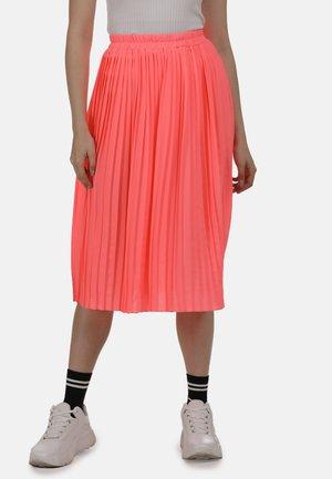 ROCK - Áčková sukně - neon pink