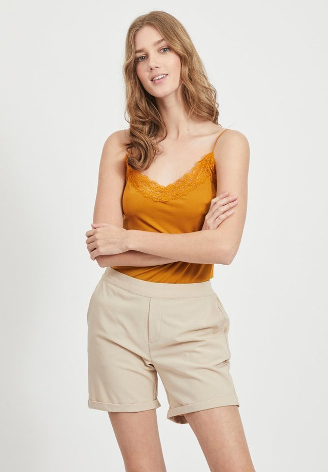OBJLEENA SINGLET - Hemd - buckthorn brown
