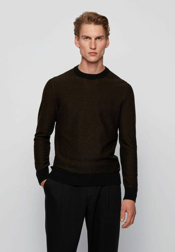 KAMARSOS - Stickad tröja - black